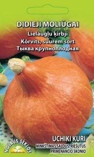Ķirbji -lielaugļu (Uchiki Kuri H)     Vidēji agrīna